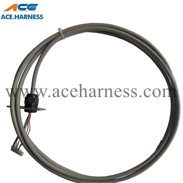 ACE0301-8 control cable assembly with cable gland and aluminum panel