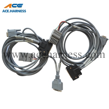 ACE0301-47 Industrial cable assembly with HPCN 50P connector