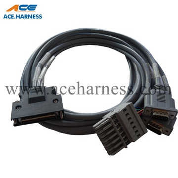 ACE0301-49 Industrial cable assembly with DB connector