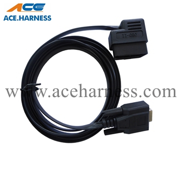 ACE0801-4 16pin OBD male to DB-9pin Flat Auto Diagnostic Cable