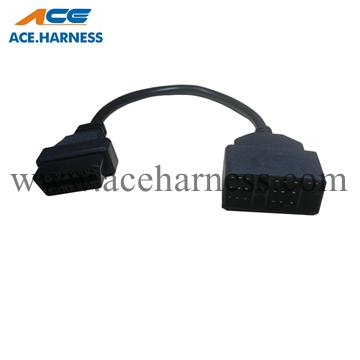 ACE0801-5 Toyota 17pin to OBD 16pin male OBDⅡ cable assembly